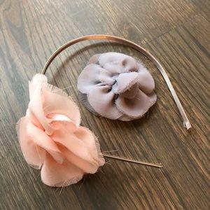 J. Crew Silk Floral Headband & Hair Pin